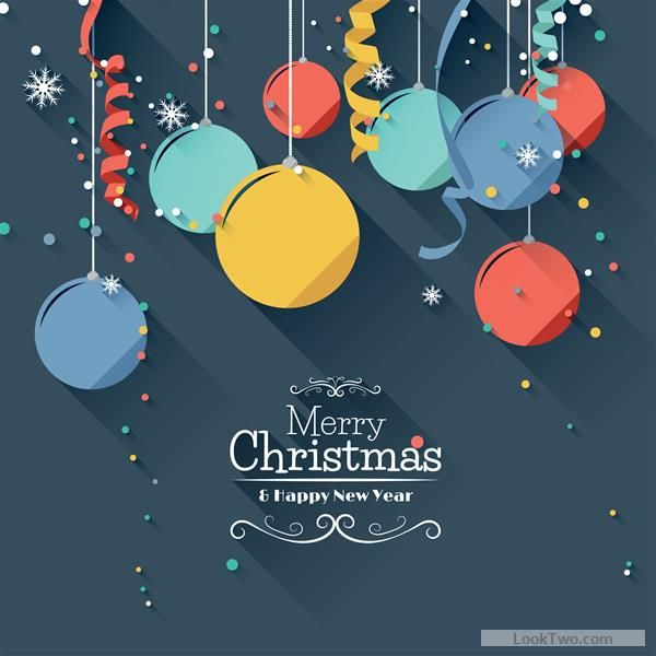 Free Paper snowflake and baubles christmas background 02  vector download