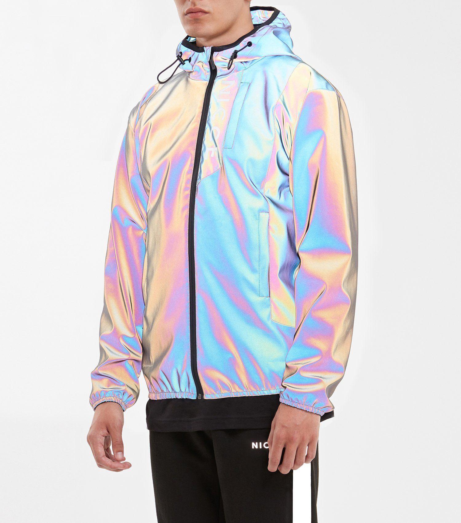 Reflective Sole Boy Rainbow Iridescent Puffer Jacket Right Jackets Fashion Holographic Jacket Reflective Clothing [ 1700 x 1500 Pixel ]