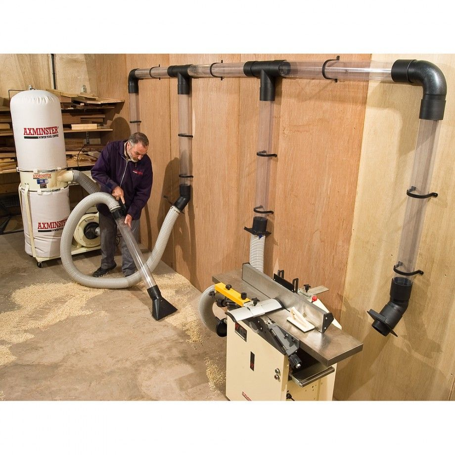 100mm Dust Extraction Kit Dust Collector Woodworking Shop