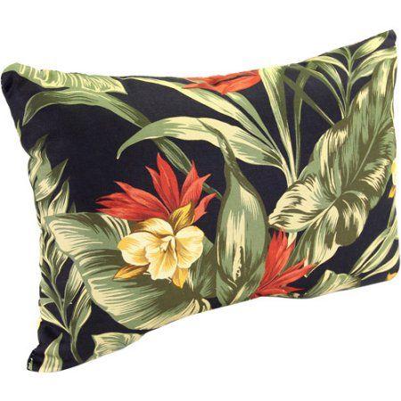 Jordan Manufacturing Rectangle Indoor/Outdoor Patio Toss Pillow, Sunset Ebony - Walmart.com