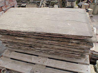 Reclaimed Natural Stone Hearth 1120 X 560 Not York Stone 44 X 22 Ebay