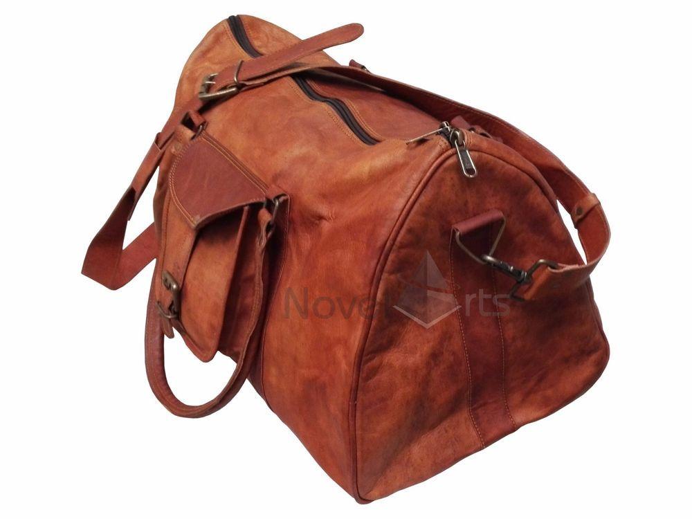 ca98c3f5c7954b Leather Triangular Duffel Large Sports Gym Bag Travel Overnight Weekend Bag  #Handmade #DuffleGymBag