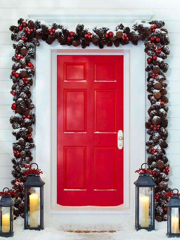 puertas navideñas elegantes 9 - enmarcar la puerta | HOLIDAYS ...