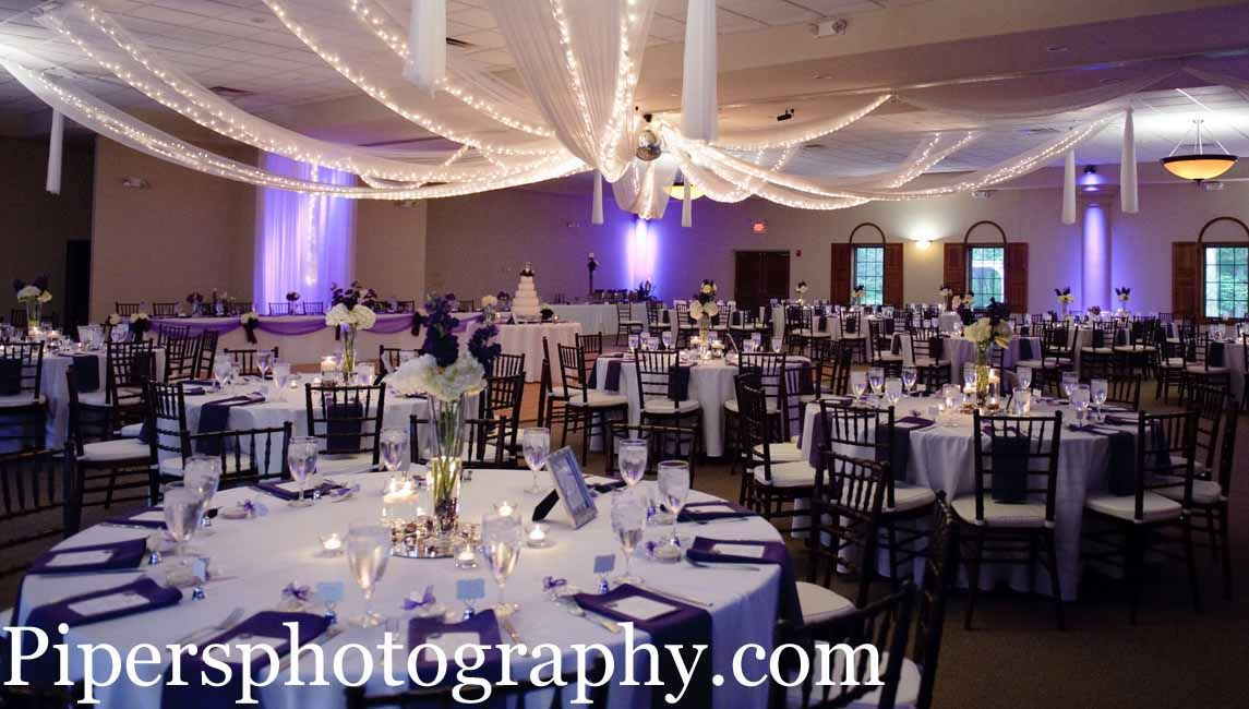 Purple Up Lighting Columbus Ohio Wedding Reception Venues
