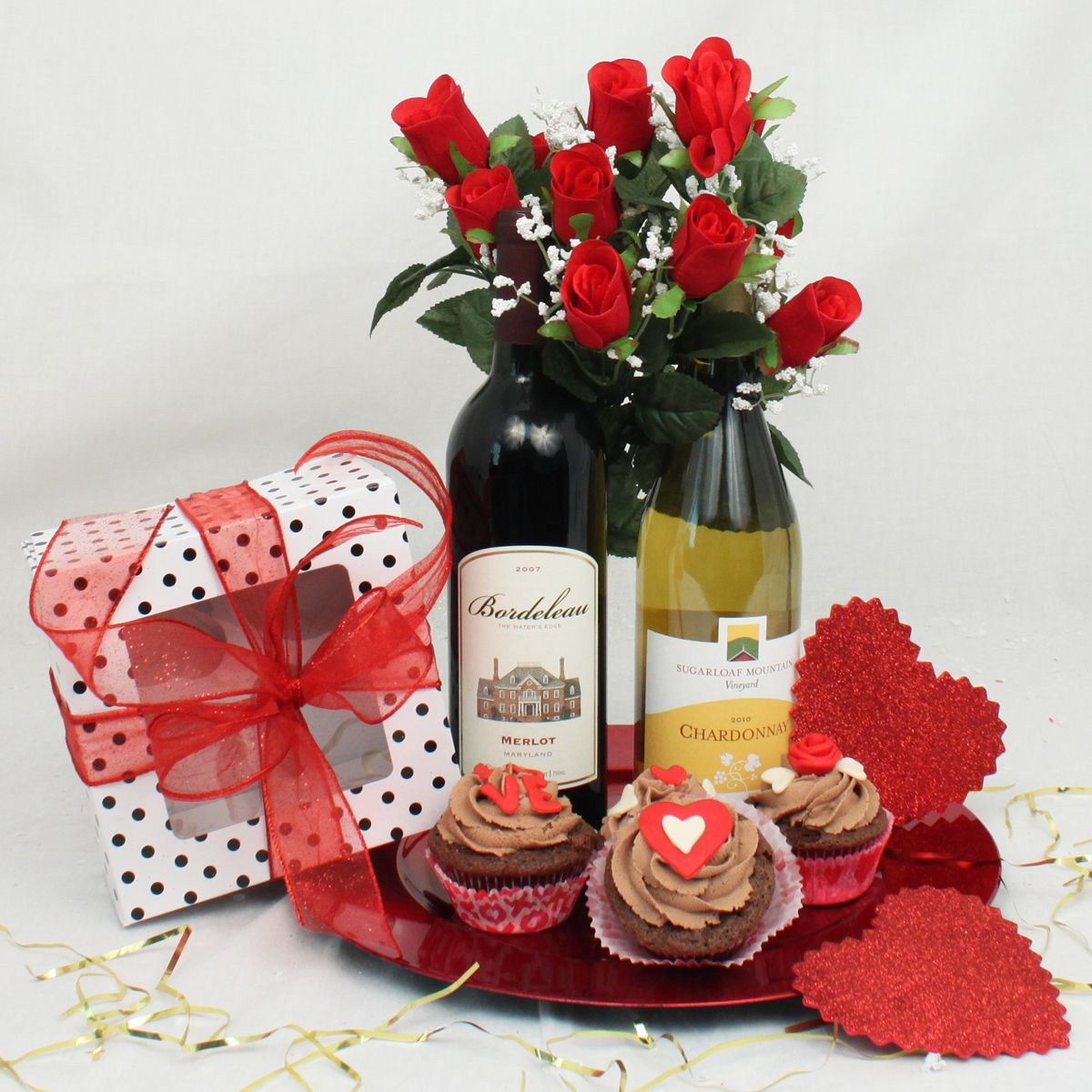Cupcakes Valentines Day Gift Basket  Maryland Gift Baskets