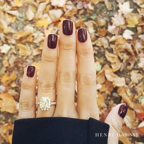 A fall classic by Henri Daussi. : @leahseal Click link in bio to find a store near you. #engaged #engaged #engagementring # #psl #fall #fall2016@ #jewelry #jewelrydesigner #jewellery