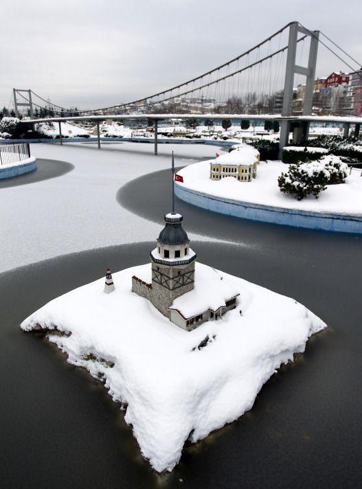 İstanbul'dan kar manzaraları. Istanbul sous la neige