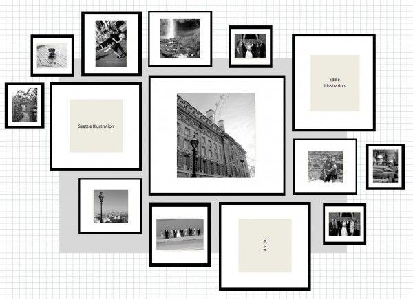 Idee composizioni cornici ikea muro nel 2019 pareti for Cornici foto ikea