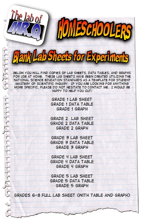 Blank Lab Sheets For Grades 1 8 Could Adapt For The Classroom Whenever We Do An Experiment Homeschool Science Science Notebooks Science Links