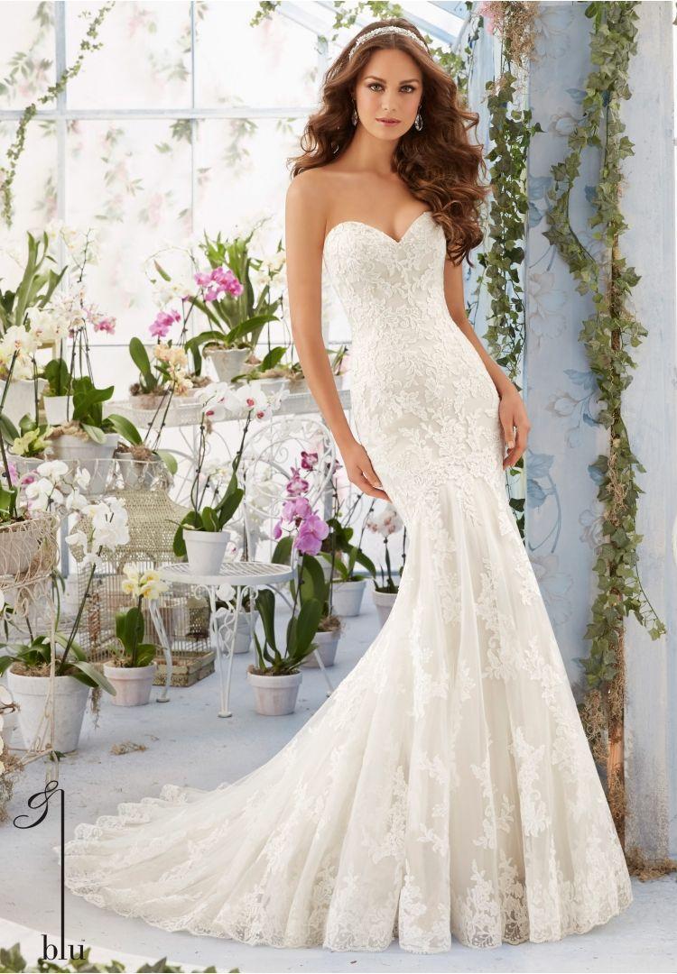 Wedding Bridal Gowns Designer Blu Dress Style 5413 Sweetheart Wedding Dress Mori Lee Wedding Dress Lace Sweetheart Wedding Dress