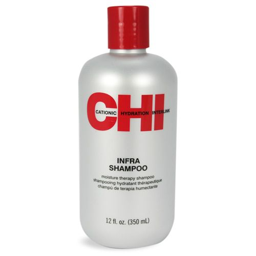 The CHI Infra Shampoo strengthens the hair with proteins and balances the hair's moisture for softness using Cationic Hydration Interlink. CHI Infra Shampoo is gentle enough to use daily.    CHI Infra Shampoo Benefits:        Gently cleanses      Cationic Hydration Interlink softens and strengthens hair      Adds moisture and shine        Follow with CHI Infra Thermal Treatment Conditioner.   Buy 3 for $10.76 each