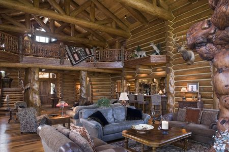 decorate your log home like an interior designer httpwwwlogcabindirectory - Log Homes Interior Designs