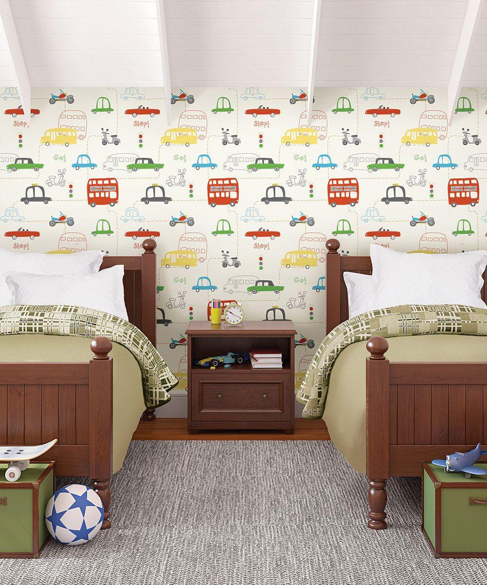 Orange British Cars Wallpaper Zulily Kids Room Wallpaper Kids Bedroom Wallpaper Eclectic Bedroom