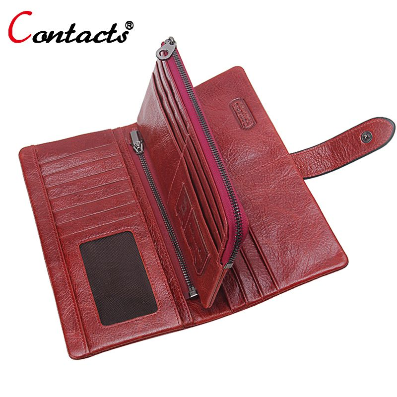 ... genuine leather men wallet Suppliers  CONTACT S Genuine Leather Men  Wallet Women wallet Coin Purse Phone Clutch Long Organizer design Lady Card  Holder ... 5658585fda02