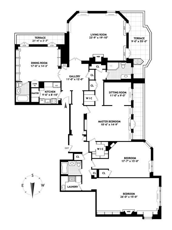 For Sale 1 East 66th St 17ab In Lenox Hill Luxury Floor Plans Apartment Floor Plans Floor Plans