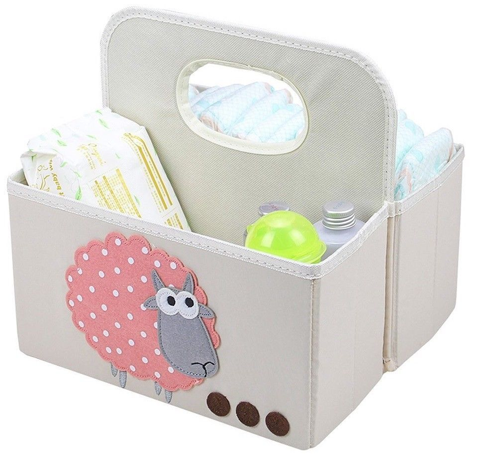 Nursery Storage Organizer Caddy Collapsible Tote 2 Compartments Easy ...