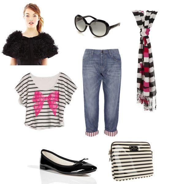 C'est si bon! Fun, stripey outfit for the Springtime in Paris fashion mission #outfit #fashion #style #contest