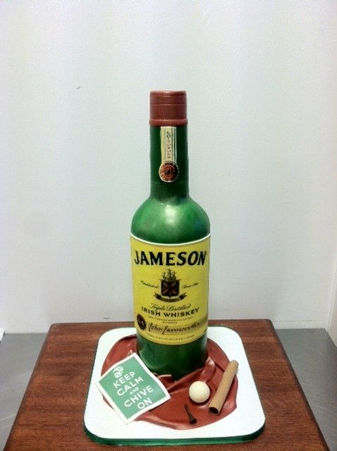 3d Jameson Whiskey Bottle Cake Cakes In 2019 Bottle