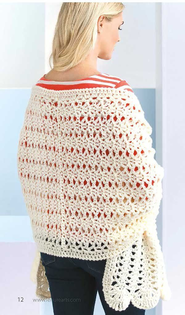In Shawls You\'ll Love from Leisure Arts, beautiful stitch patterns ...