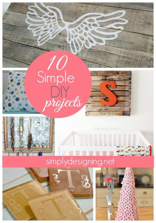 10 Simple DIY Projects #diy #home #decor
