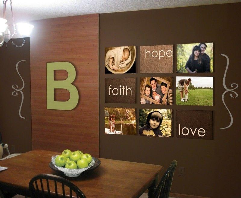 fotowand gestalten mit bildern und botschaften deko pinterest fotowand w nde und ideen. Black Bedroom Furniture Sets. Home Design Ideas