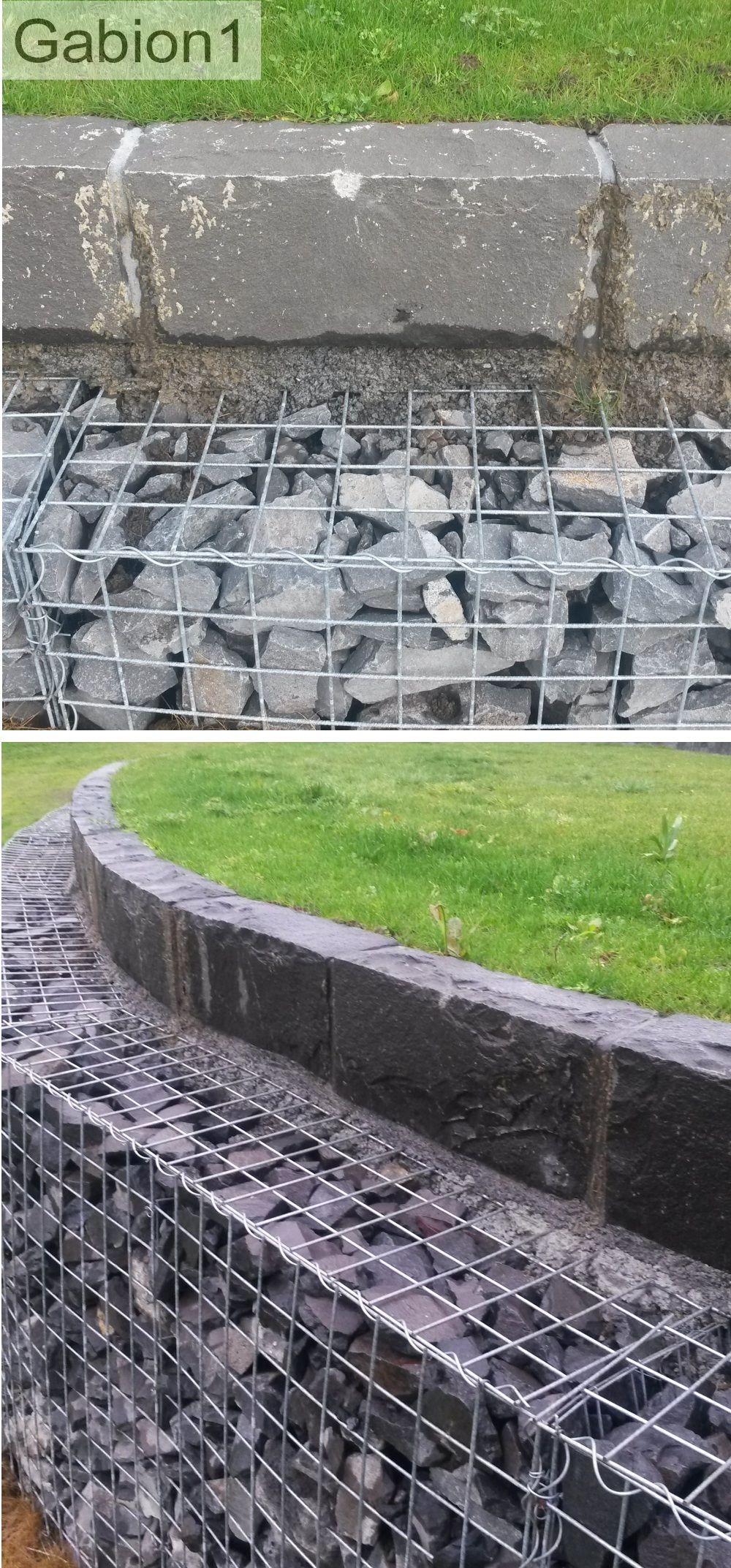 Gabion Wall With Stone Capping Detail Http Www Gabion1 Co Nz Garden Retaining Wall Gabion Wall Garden Wall