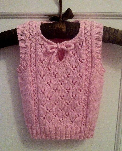 Ravelry: Netka's Baby vest #children'ssweaters