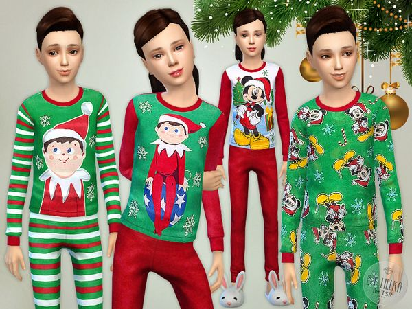 25c1fc801 The Sims Resource  Christmas Pajama - Set by lillka • Sims 4 ...