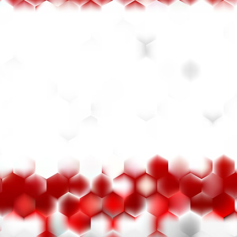 Abstract Red White Hexagon Pattern Background Design White