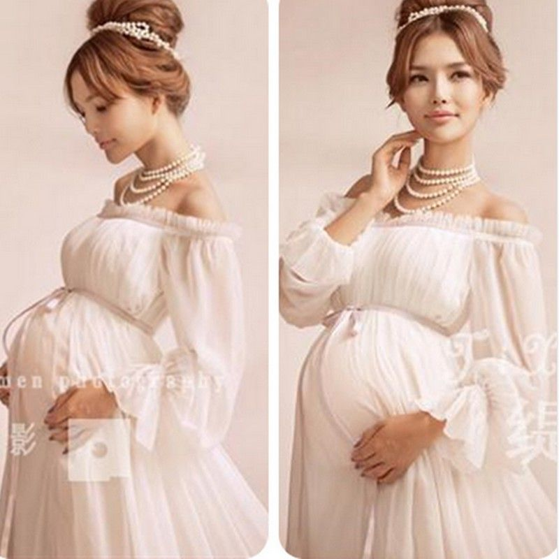 8a3c61d462799 Maternity Dress Maternity Photography Props Lace Pregnancy Clothes ...