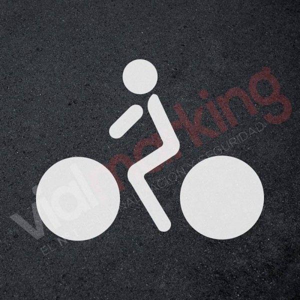 Plantilla para pintar y marcar ciclista carril bici polipropileno ...