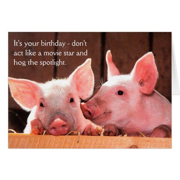 Piglet funny bacon birthday card piglets piglet funny bacon birthday card bookmarktalkfo Image collections