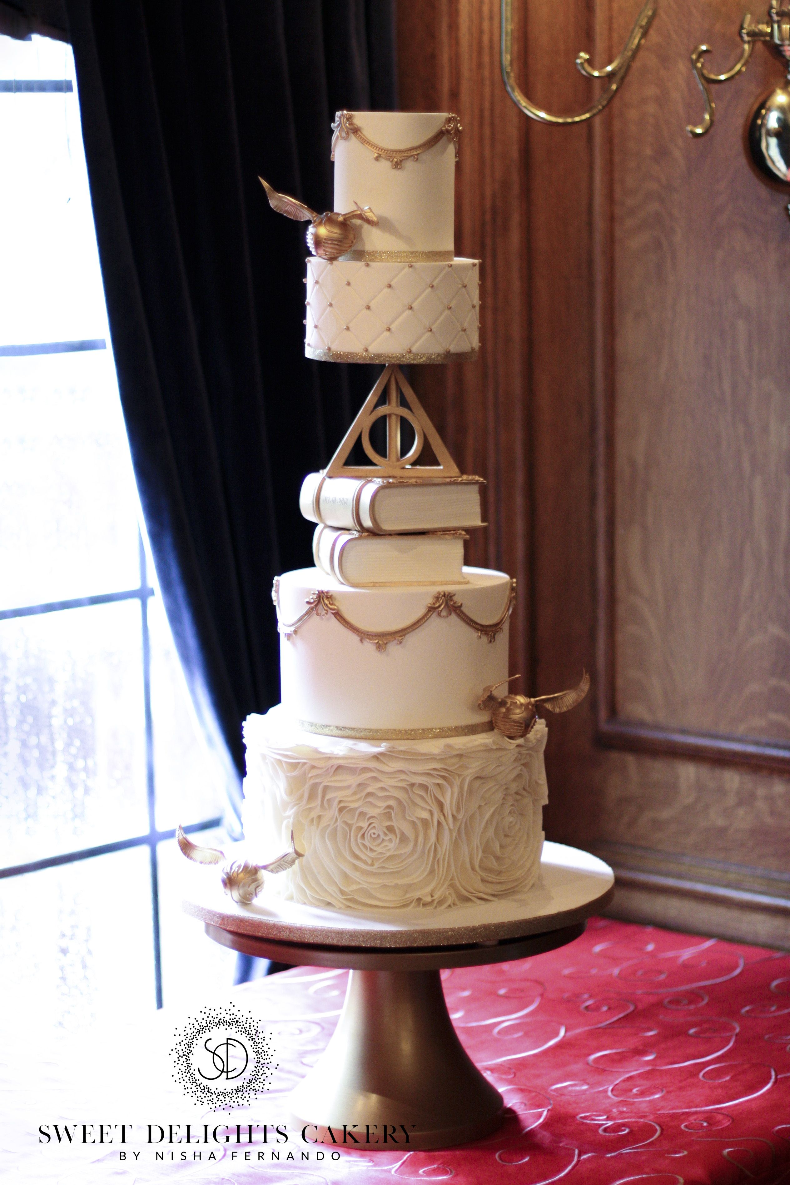 Fondant trend  Harry Potter themed wedding cakes   Sweet Delights Cakery