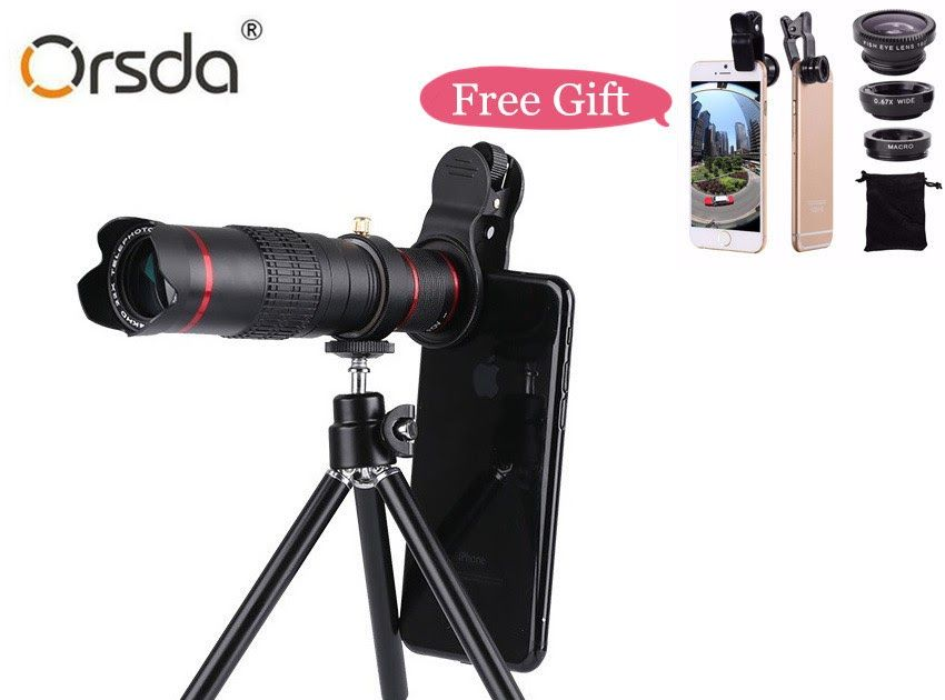 Buy online orsda hd 4k 22x zoom mobile phone telescope lens