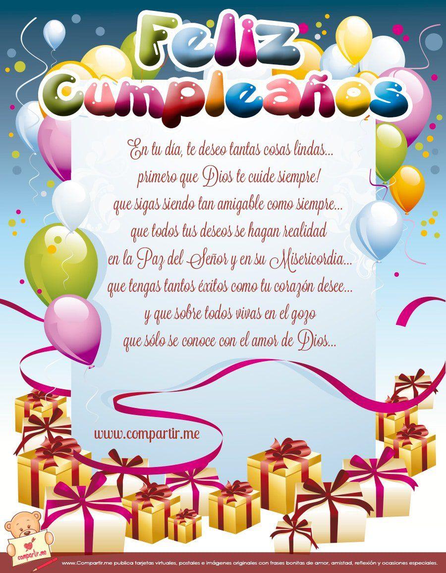 Estás planeando una fiesta de cumpleaños para tu hijo, hija o amigo? No …    Tarjeta de cumpleaños cristianas, Dedicatorias cumpleaños, Tarjetas de  feliz cumpleaños
