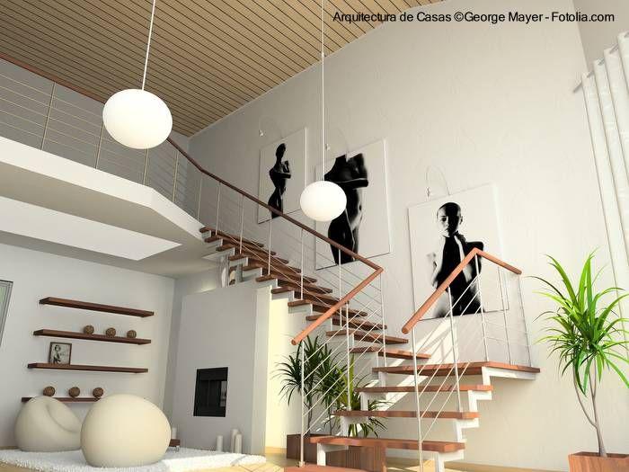 de casas escaleras interiores de diseo y ms