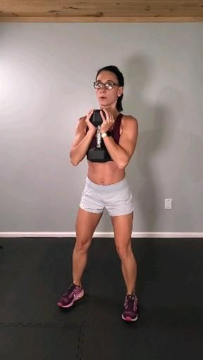 Sweaty lower body workout with weights
