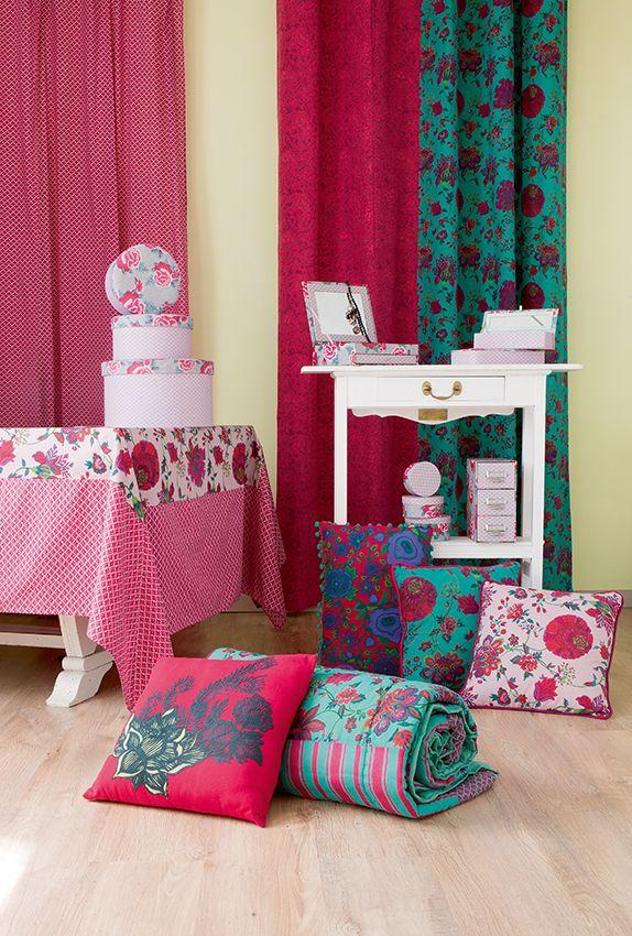 la fianc e du mekong la d coration collection printemps t 2014 curtain and cushion pinterest. Black Bedroom Furniture Sets. Home Design Ideas