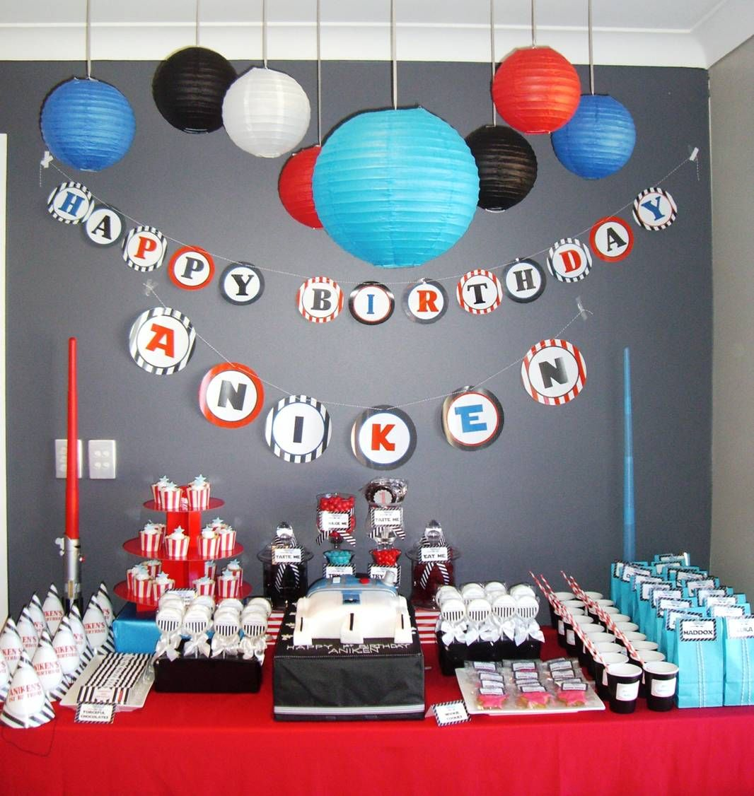Birthday table decorations boy - Image Detail For Star Wars Lego Party Candy Buffet Table Ideas