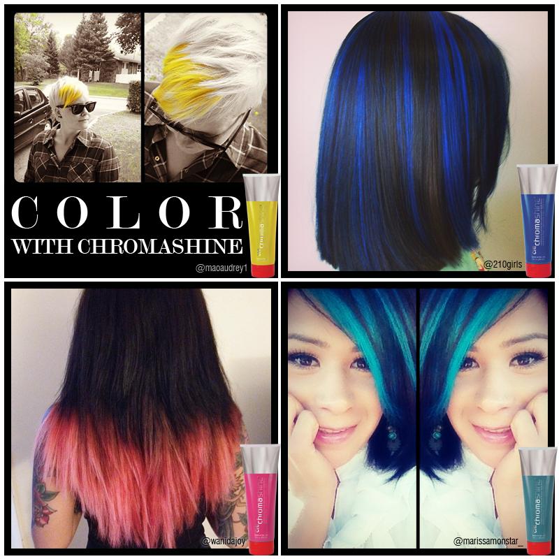 CHI Chromashine color FUN! #PaleYellow #RichBlue #PurePink ...