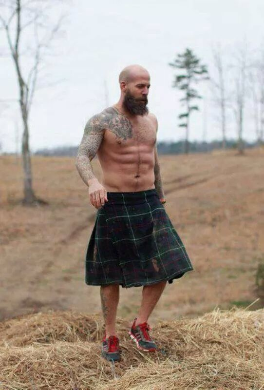 Nice butt in scotch kilt was wicked