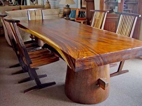 This Is The Closest I Could Find To My Dream Tree Trunk Tablei'm Impressive Tree Trunk Dining Room Table Decorating Design
