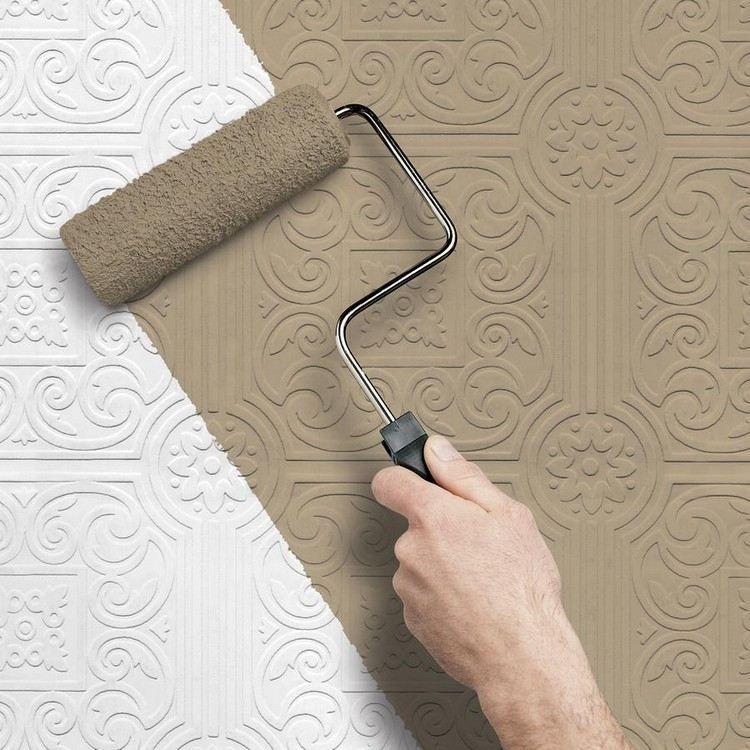 peindre sur du papier peint  donner une deuxième vie au papier