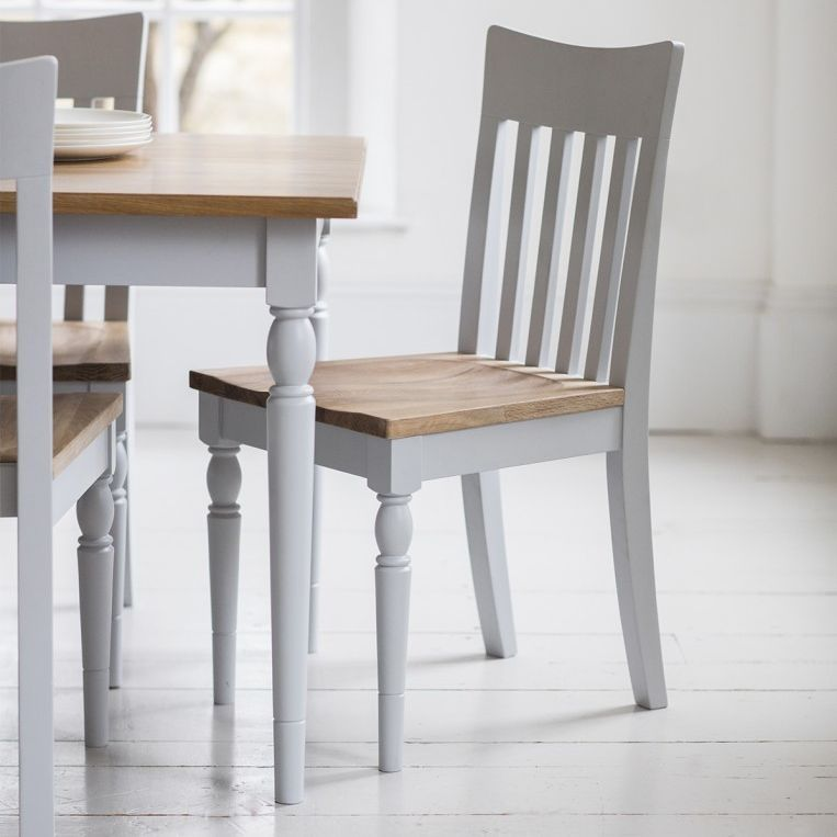 Gallery Direct Marlow Soft Grey Paint Dining Chair (Pair)