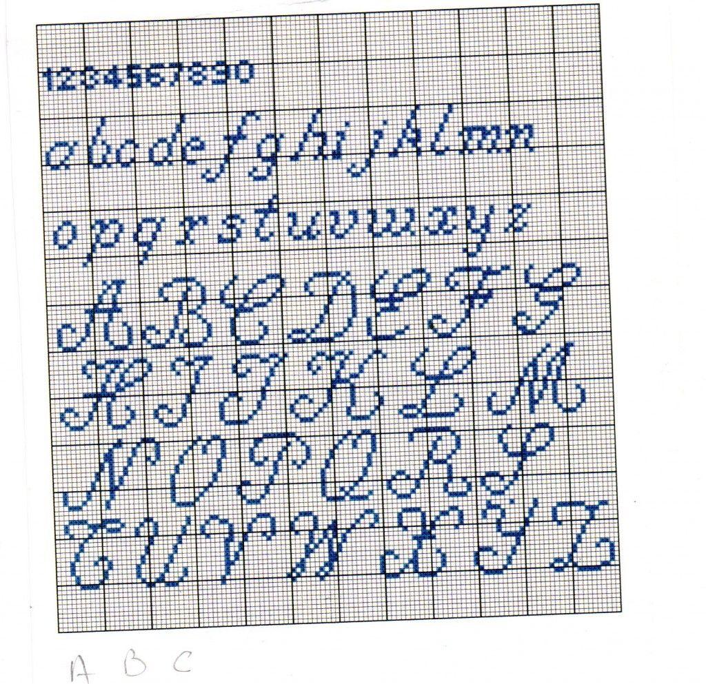 grille broderie alphabet broderie pinterest alphabet grille et broderie. Black Bedroom Furniture Sets. Home Design Ideas