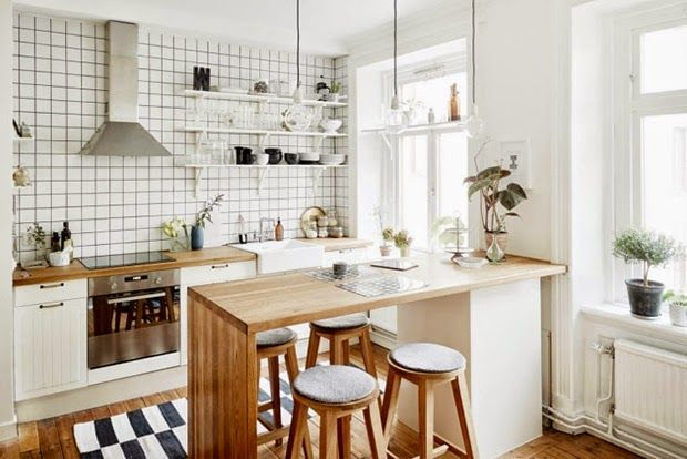 Coziness And Simplicity In A Small Scandinavian Apartment Design Attractor Small Apartment Kitchen Kitchen Remodel Small Small Apartment Kitchen Decor