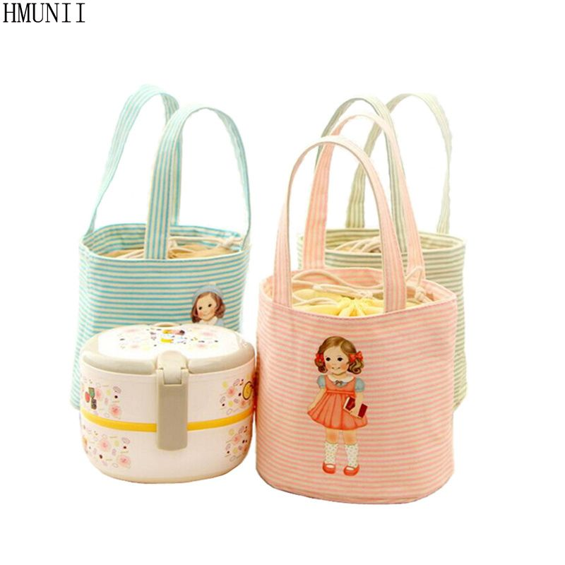 HMUNII Fashion Portable Insulated Canvas lunch Bag Thermal Food Picnic  Lunch Bags for Women kids Men Cooler Lunch Box Bag Tote  Affiliate e15337962d42