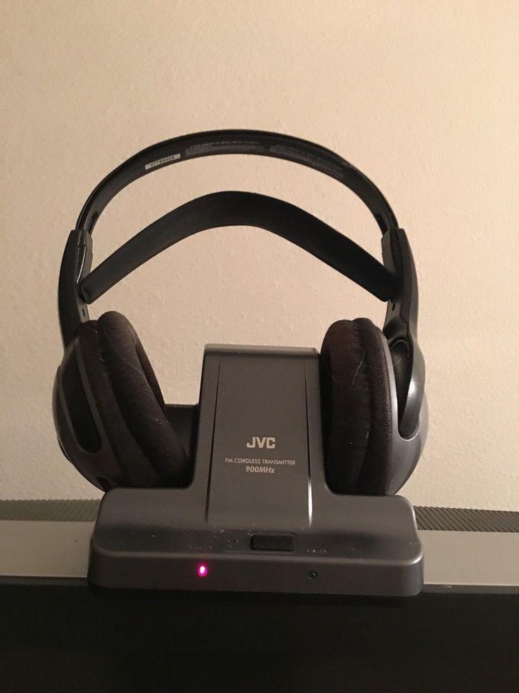 JVC HA W600RF 900 MHz FM Cordless HeadphonesTransmitter Tested EBay