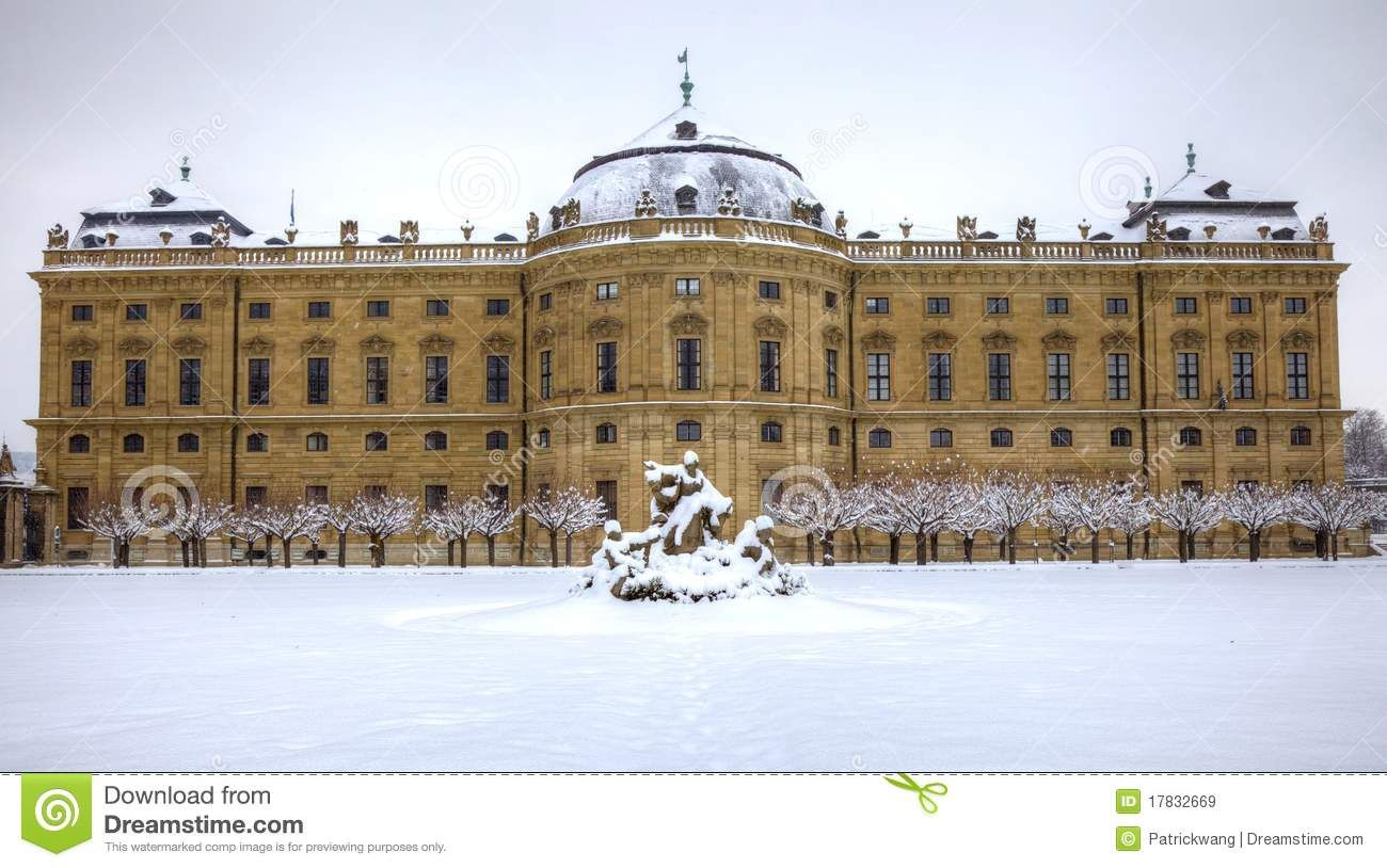 Wurzburg Germany | Royalty Free Stock Images: Residenze of Wurzburg Germany in snow
