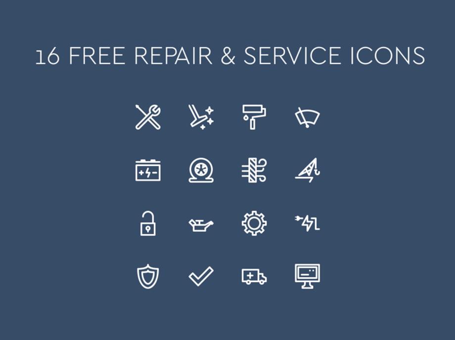 Repair And Service Icons Icon Web Design Services Repair